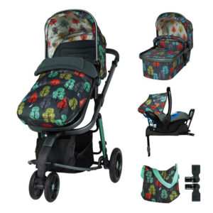 Cosatto Giggle 3 Pram and Pushchair Whole 9 Yards Bundle Hare Wood