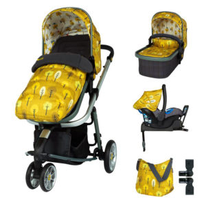 Cosatto Giggle 3 Pram and Pushchair Whole 9 Yards Bundle Spot the Birdie