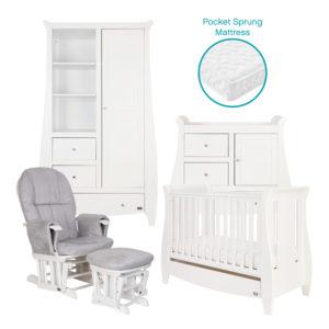Tutti Bambini Lucas 5 Piece Room Set - White