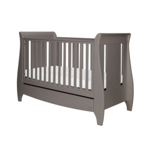 Tutti Bambini Lucas Sleigh 3 in 1 Cot Bed - Cool Grey