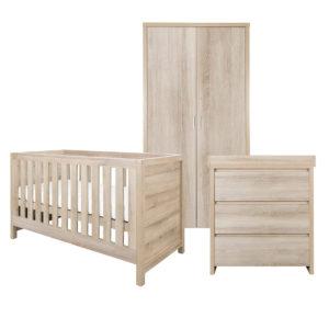 Tutti Bambini Modena 3 Piece Room Set Oak