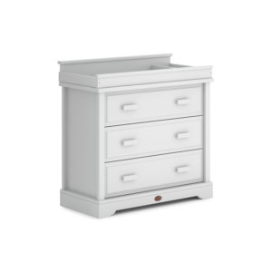 Boori 3 Drawer Dresser with Squared Changing Station - Barley White