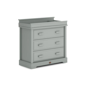 Boori 3 Drawer Dresser with Squared Changing Station - Pebble
