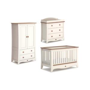 Boori Provence Convertible Plus™ 3 Piece Room Set - Cream and Pecan