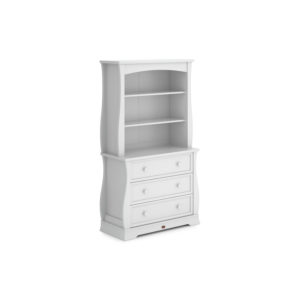 Boori Sleigh Bookcase Hutch - Barley White