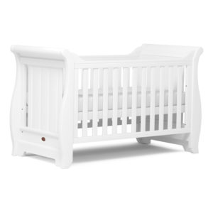 Boori Sleigh Cot Bed - Barley White