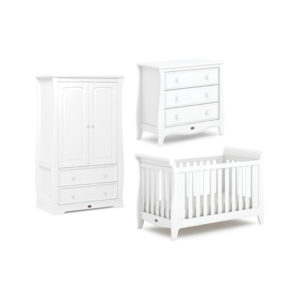 Boori Sleigh Expandable™ Cot Bed 3 Piece Set - Barley White