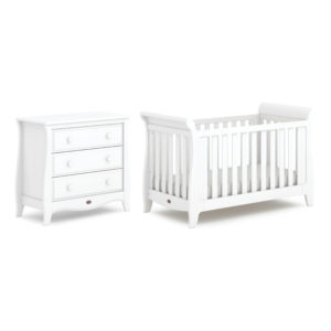 Boori Sleigh Expandable™ Cot Bed 2 Piece Set - Barley White