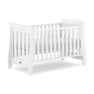 Boori Sleigh Urbane Cot Bed - Barley White