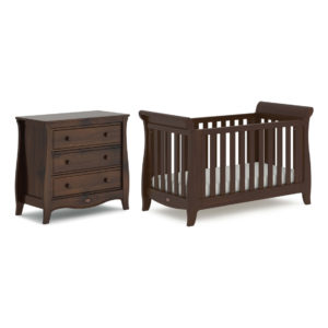 Boori Sleigh Expandable™ Cot Bed 2 Piece Set - Coffee