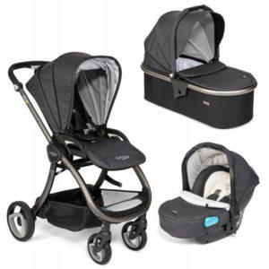 Tutti Bambini Arlo Charcoal 3 in 1 Travel System - Liquorice
