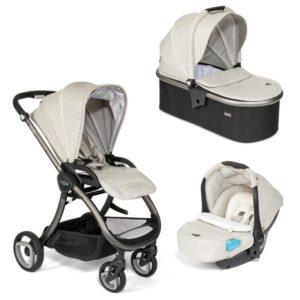 Tutti Bambini Arlo Charcoal 3 in 1 Travel System - Oatmeal