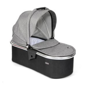 Tutti Bambini Arlo Carrycot - Chrome/Charcoal