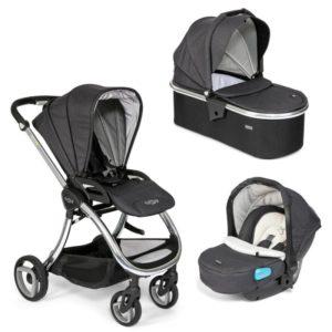 Tutti Bambini Arlo Chrome 3 in 1 Travel System - Liquorice