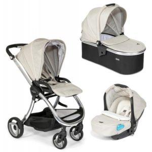 Tutti Bambini Arlo Chrome 3 in 1 Travel System - Oatmeal