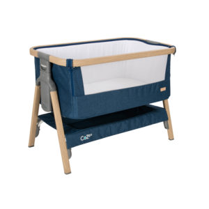 Tutti Bambini CoZee Bedside Crib - Oak and Midnight Blue