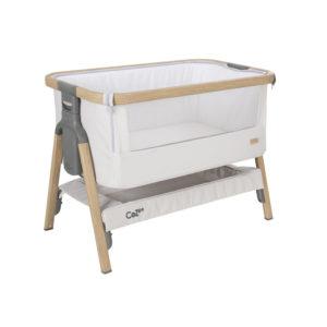 Tutti Bambini CoZee Bedside Crib - Oak and Sterling Silver