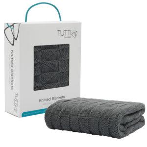 Tutti Bambini CoZee Cotton Woven Blanket - Charcoal