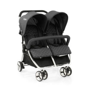BabyStyle Oyster Twin Stroller Tungsten Grey