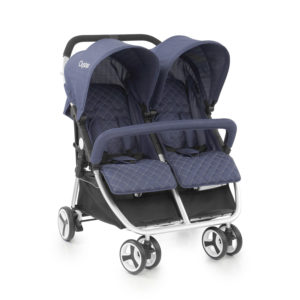 BabyStyle Oyster Twin Stroller Oxford Blue