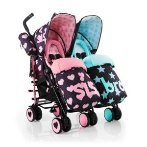 Cosatto Supa Dupa Twin Stroller Sis & Bro 5