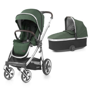 BabyStyle Oyster 3 Stroller And Carrycot Alpine Green (Mirror)