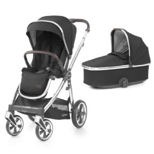 BabyStyle Oyster 3 Stroller And Carrycot Caviar (Mirror)
