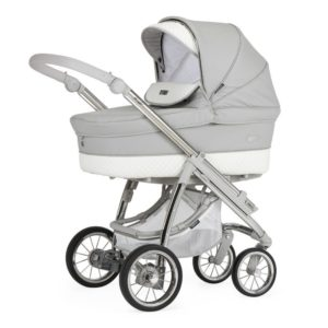 Bebecar Ip-op XL Classic Combination with Car Seat and KITLA3 - Silver Grey
