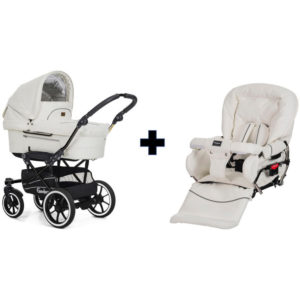 Emmaljunga Mondial Duo S Chassis White Leatherette Package