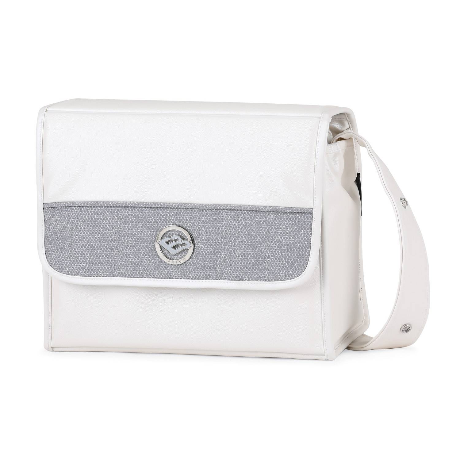 Bebecar Square Changing Bag White Glitter