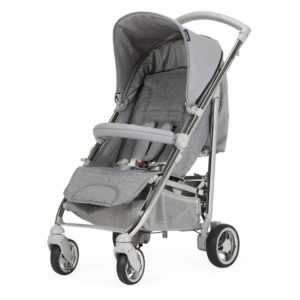 Bebecar Spot+ Pushchair with Raincover Platinum Grey