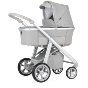 Bebecar Via Cross Combination with Car Seat and KITLA3 - Stone Grey