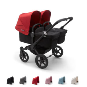 Bugaboo Donkey3 Twin with BLACK Chassis