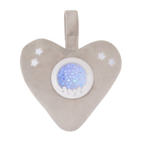 Little Chick London Twinkle Light Bedtime Soother Heart Grey