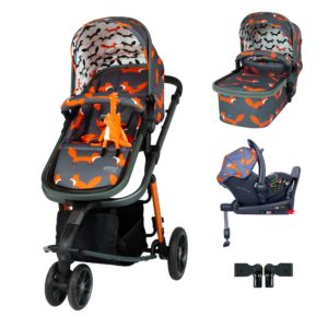 Cosatto Giggle 3 i-Size Bundle Charcoal Mister Fox