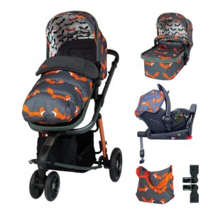 Cosatto Giggle 3 Everything Bundle Charcoal Mister Fox