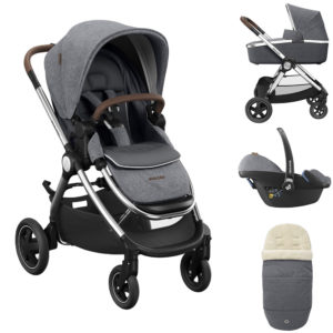 Maxi Cosi Adorra Luxe Travel System Bundle - Grey Twillic