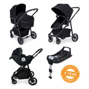 Ickle Bubba Moon i-Size 3 in 1 Travel System with IsoFix Base