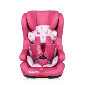 Cosatto Hubbub Group 1/2/3 ISOFIX Anti-Escape Car Seat Pink Llama
