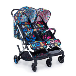 Cosatto Woosh Double Stroller Sis and Bro