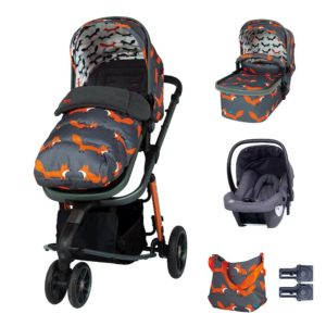 Cosatto Giggle 3 Marvellous Bundle (5pcs) - Charcoal Mister Fox with Graphite Hold Car Seat