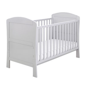 Babymore Aston Drop Side Cot Bed - Grey