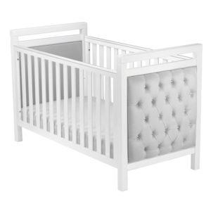 Babymore Velvet Deluxe Cot Bed - White