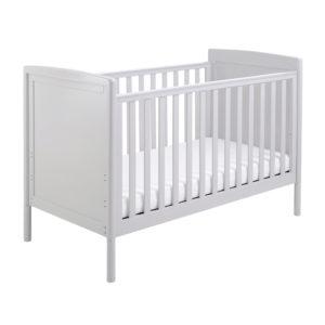 Babymore Milo Dropside Cot Bed - Grey