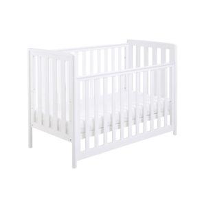 Babymore Ellie Dropside Cot Bed - White
