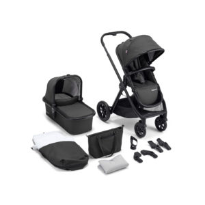 Babymore MeMore Pram & Pushchair 11 Piece - Black Espresso