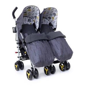 Cosatto Supa Dupa Twin Stroller Fika Forest
