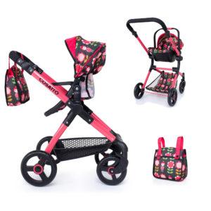 Cosatto Me Mo Dolls Pushchair & Car Seat - Fairy Garden