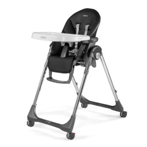 Peg Perego Prima Pappa Follow Me Highchair - Special Edition Hi-tech Licorice