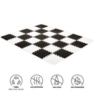 Kinderkraft Foam Mat Puzzles LUNO Black